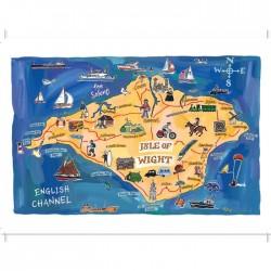 Isle of Wight Map Postcard