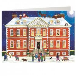 Country House Christmas Advent Calendar Card