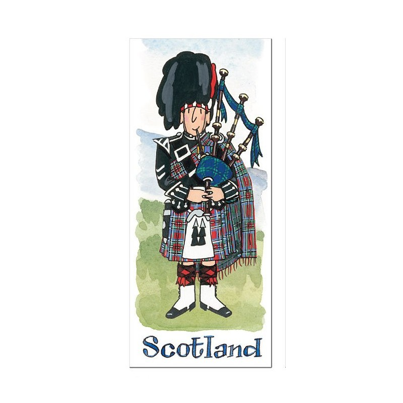 Scottish Piper Major Bookmark