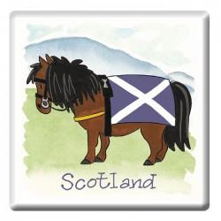 Scottish Pony Fridge Magnet