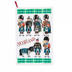 Scottish Pipers Tea Towel