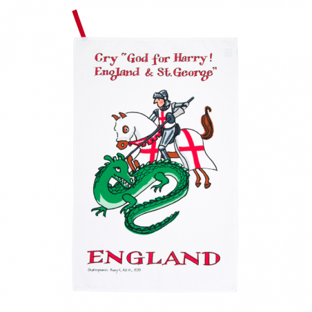 St George and the Dragon Tea Towel