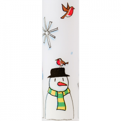 Snowmen Advent Candle