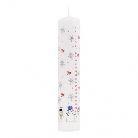 Snowmen Pillar Advent Candle