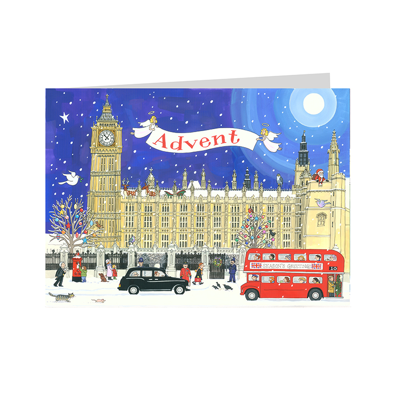 Palace of Westminster Advent Calendar Card