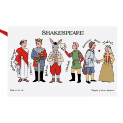 Shakespeare Characters Tea Towel