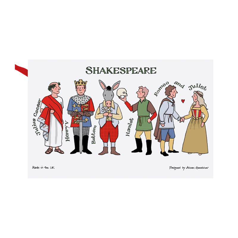 Shakespeare Characters Tea Towel