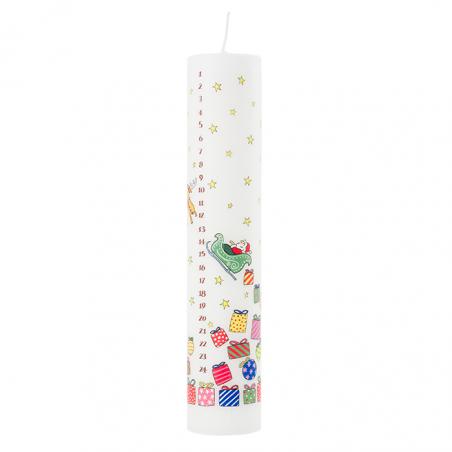 Santa's Sleigh Advent Pillar Candle