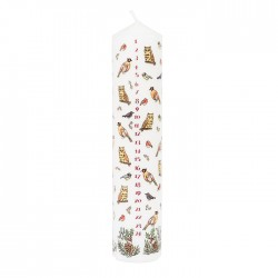 Winter Birds Advent Pillar Candle