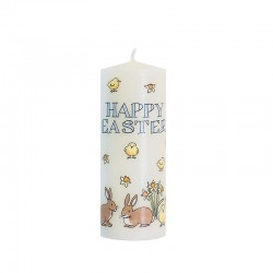 Easter Bunnies and Chicks Candle