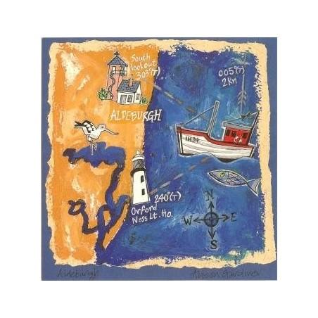 Aldeburgh and Orfordness Postcard