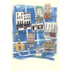 Soho, London, Postcard
