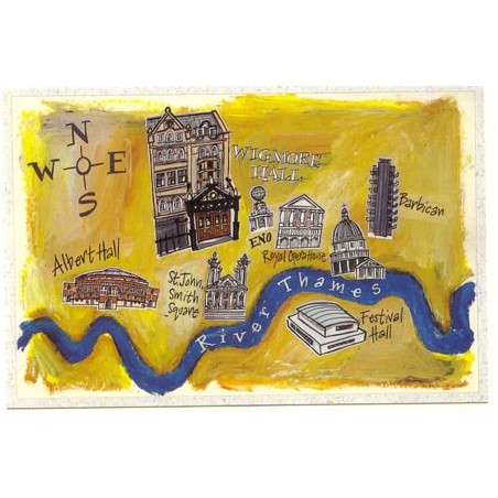 London Map ft. Concert Halls Postcard