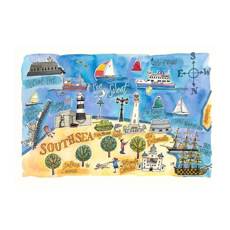 Southsea Map Print