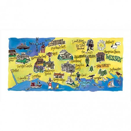 Wessex Map Print