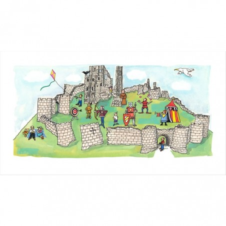 Corfe Castle Print