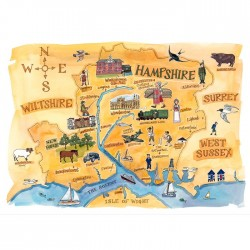 Hampshire Map Print