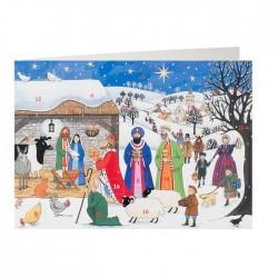 Jesus is Born Advent Calendar Card