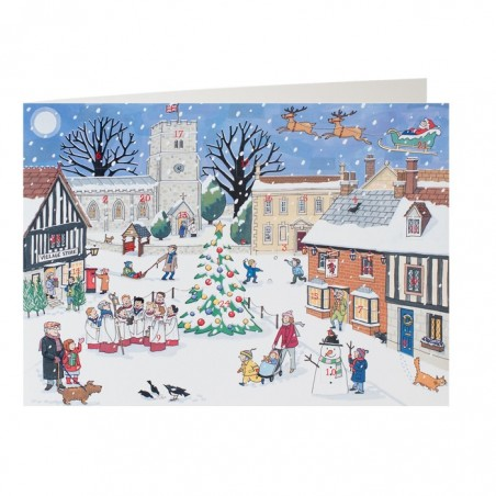 Christmas in the Village Advent Calendar Card