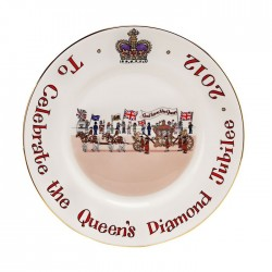 Diamond Jubilee Plate 8""