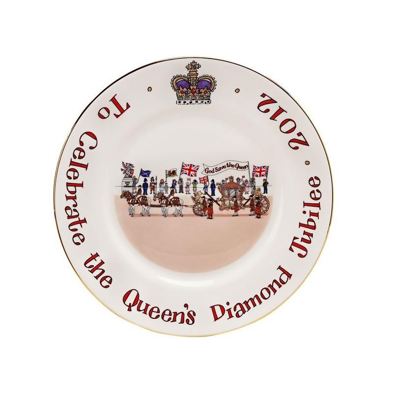"""Diamond Jubilee Plate 8"""""""