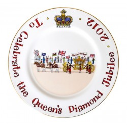Diamond Jubilee Plate 10""