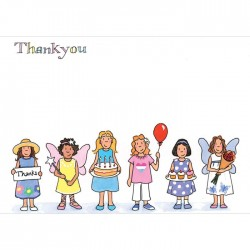 Girls Thank You  Cards