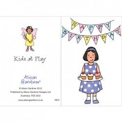 Party Girl Happy Birthday Mini Card