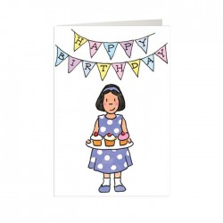 Party Girl Happy Birthday Mini Card