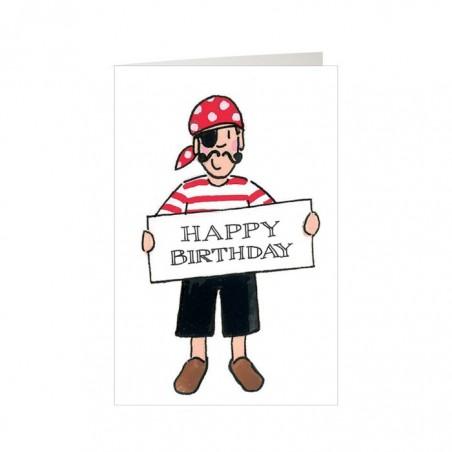 Boys Pirate Happy Birthday Mini Card