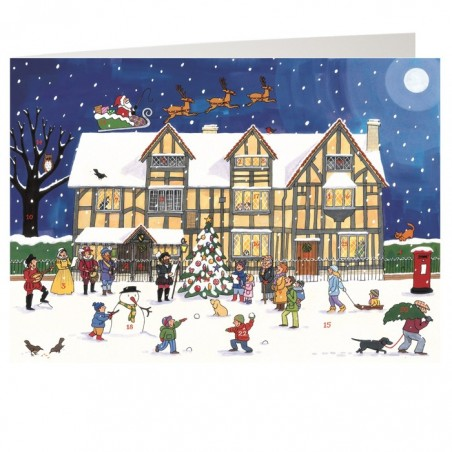 Christmas at the Old Town House Advent Calendar Card