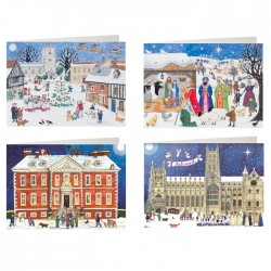 Mixed pack of 4 Advent Calendar Cards