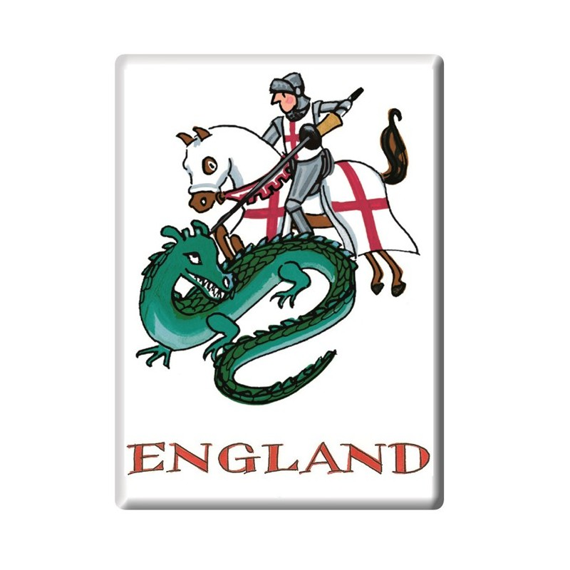 George and the Dragon fridge magnet