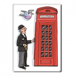 Telephone Box Fridge Magnet