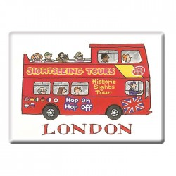 Sightseeing Bus, London Fridge Magnet