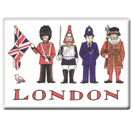 London Figures Fridge Magnet