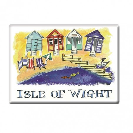 Beach Huts Fridge Magnet