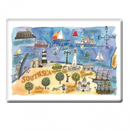 Southsea Seafront Fridge Magnet