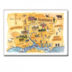 Hampshire map Fridge Magnet