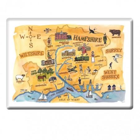 Hampshire map Fridge Magnet