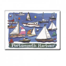 Sailing Boats, Portsmouth Fridge Magnet