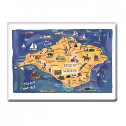 Isle of Wight Map Fridge Magnet
