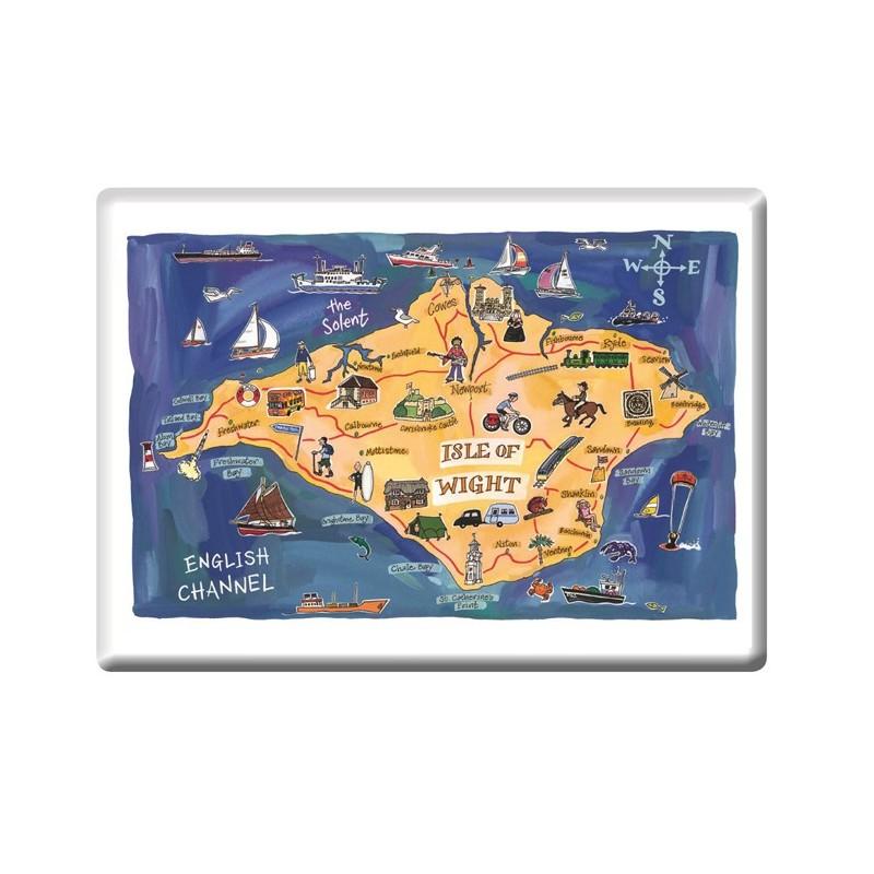 Isle of Wight Map Fridge Magnet