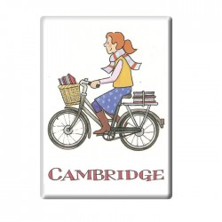 Cycling Student Girl, Cambridge Fridge Magnet