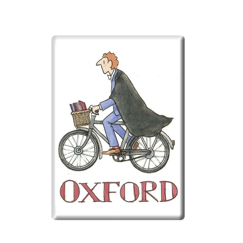 Cycling Student Boy, Oxford Fridge Magnet