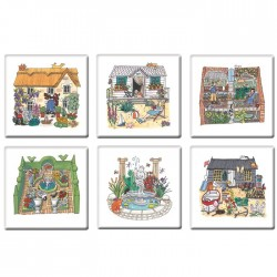 Garden Coasters Set of 6