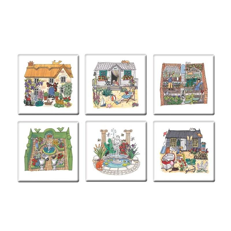 Garden Coasters Set of 6