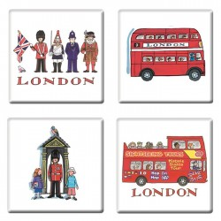 London Coasters Set of 4